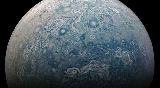 Turbulent northern areas are captured by Juno, NASA's spacecraft on the close advance on the 17th of February 2020