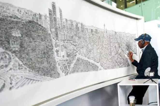 Human camera Stephen Wiltshire has this amazing ability to draw any landscape from memory after seeing it just once