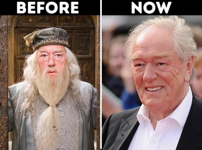 Actors from Harry Potter now Albus Dumbledore played by Michael Gambon
