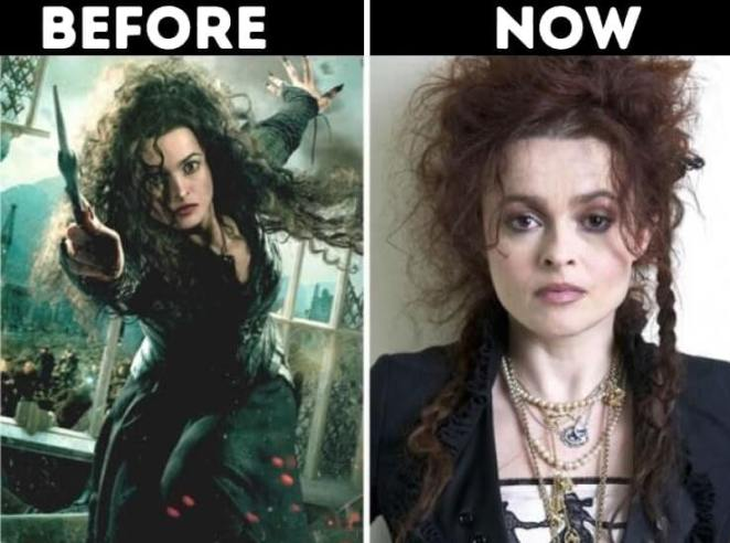 actors from Harry Potter now Bellatrix Lestrange played by Helena Bonham Carter