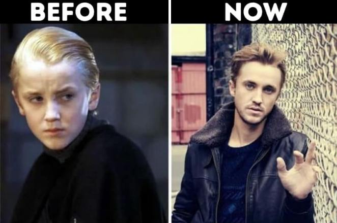 actors from Harry Potter now Draco Malfoy played by Tom Felton
