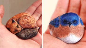 Artist Paints Found Stones That Look Like Real Animals And I Hope They Make You Smile