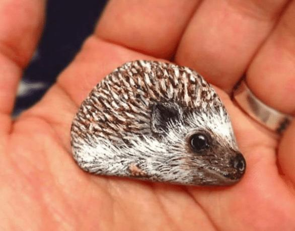 Artist Paints Found Stones That Look Like Real Hedgehog And I Hope They Make You Smile
