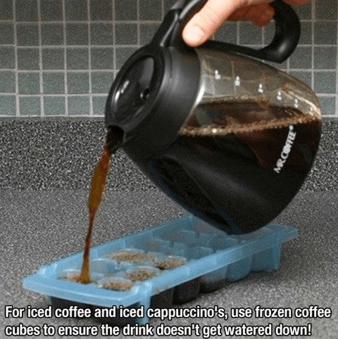 Easy DIY Home Hacks That Will Improve Your Life make ice coffee easily