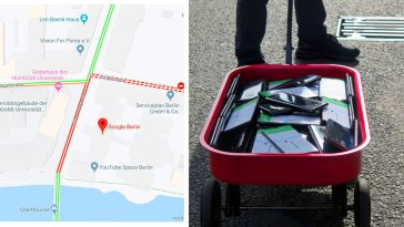 Simon Weckert Uses 99 Phones And A Handcart To Create A Virtual Traffic Jam On Google Maps