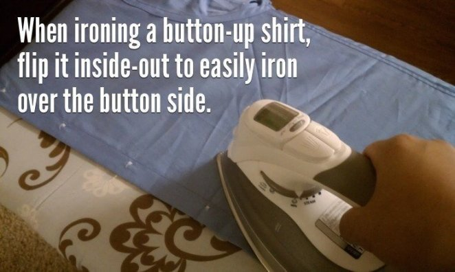 Simple Life Hacks To Everyday Problems iron t shirt
