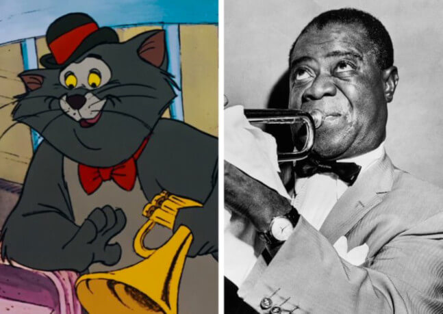 Scat Cat from The Aristocats was a role for Louis Armstrong