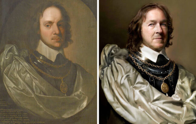 Famous historical figure Oliver Cromwell descendant Charles Bush portraits photography drew gardner