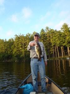 A nice Sebago Lake largemouth bass