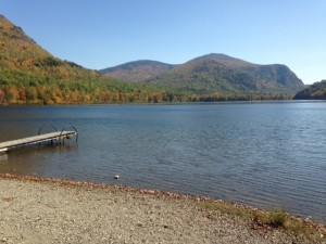 A gorgeous view of the Traveler Mountains from the north shore of Lower South Branch Pond