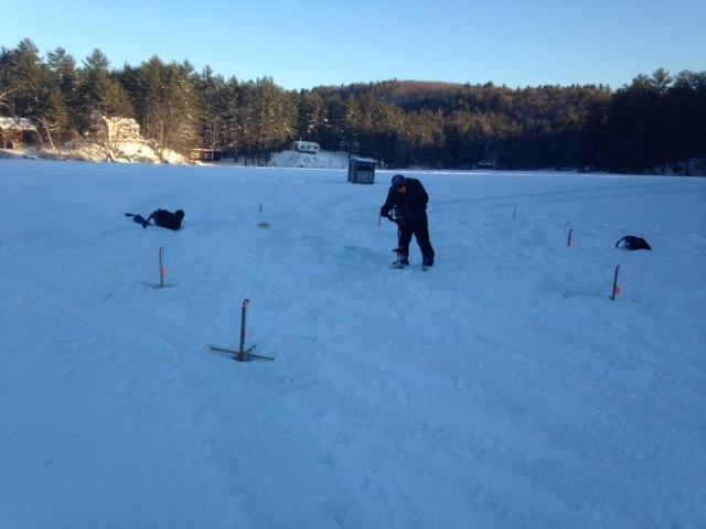 Hiram Maine Map.Ice Fishing For Rainbow Trout On Stanley Pond In Hiram Maine