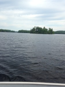 The waters off these beautiful islands by Sebago Lake State Park contain lake trout