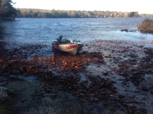 The boat launch on Kennebunk Pond is unimproved and sandy.