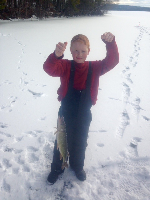 Ice Fishing For Yellow Perch And Pickerel On Panther Pond