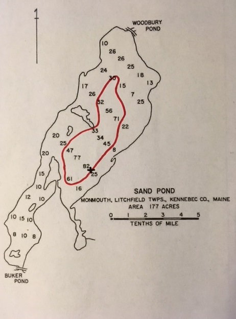 Litchfield Maine Map.Fishing For Brown Trout On Sand Pond In Litchfield Maine September