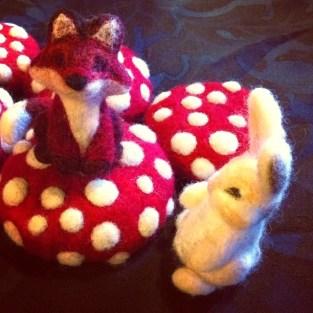 Fox and Bunny by ArtistLeahWilson