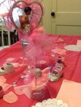 Pink table arrangement