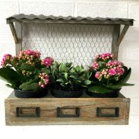 Vintage Syle Shabby Chic Window Box Wall Planter Pots