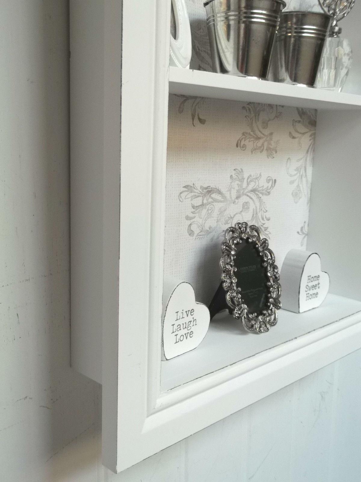 Shabby Chic Wall Unit Shelf Storage Cupboard Display