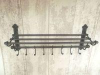 Antique Vintage Style Wall Mounted Coat Hooks Rack Shelf ...