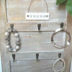 Wall Mounted Chair Rack Green Desk Shabby Chic Key Hooks Holder Jewellery Display Hanger Wooden – Amazing Grace ...