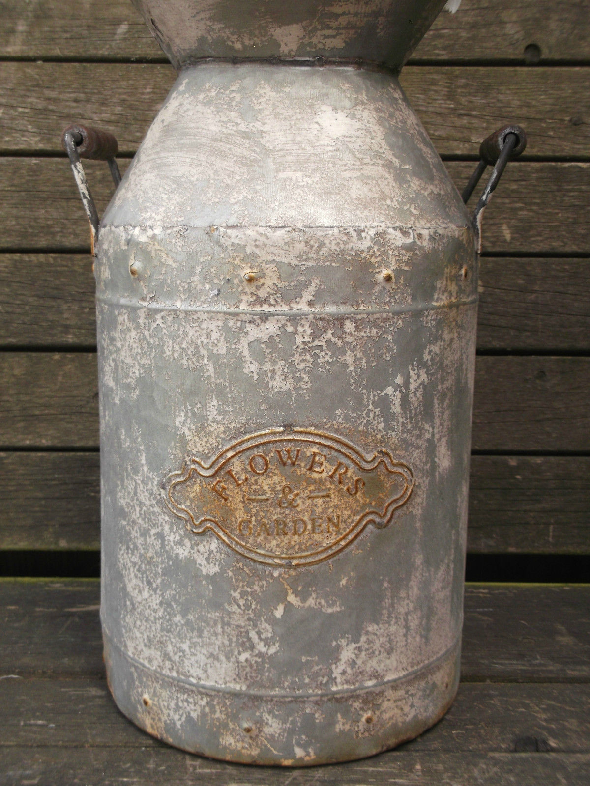 grey patio chair covers cover rentals trinidad large antique vintage style french metal milk churn garden planter vase new – amazing grace ...