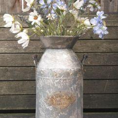 Metal Chair Covers Wedding Oversized Zero Gravity Large Antique Vintage Style French Grey Milk Churn Garden Planter Vase New – Amazing Grace ...