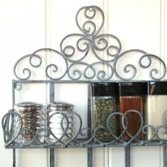 Wall Mounted Chair Rack Kohls Chaise Lounge Chairs Vintage Style Metal Shelf Unit Storage Kitchen Spice Shabby Chic – Amazing Grace ...