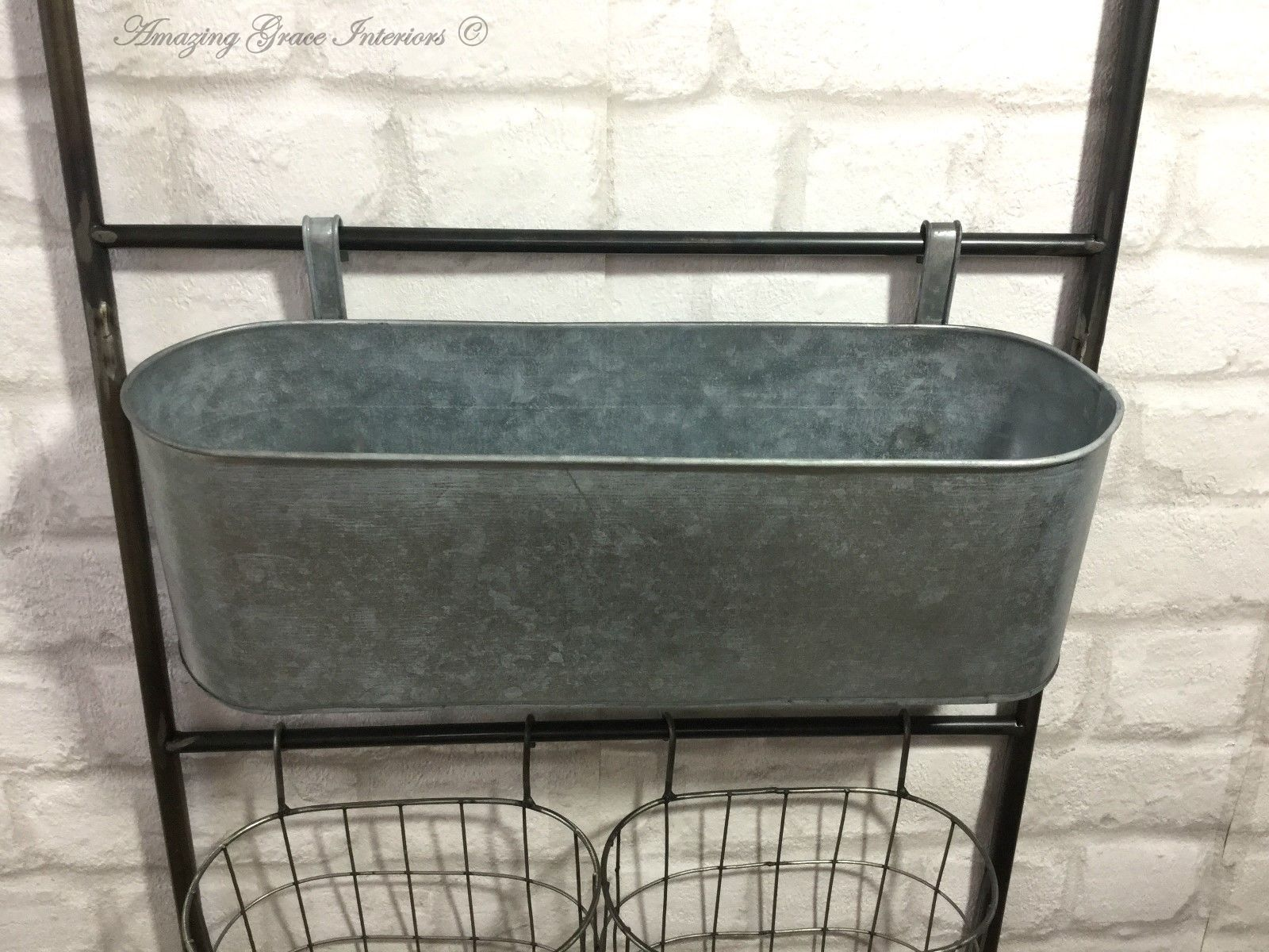 metal chair covers kitchen table vintage industrial style wall shelf unit rack hooks storage baskets – amazing grace ...