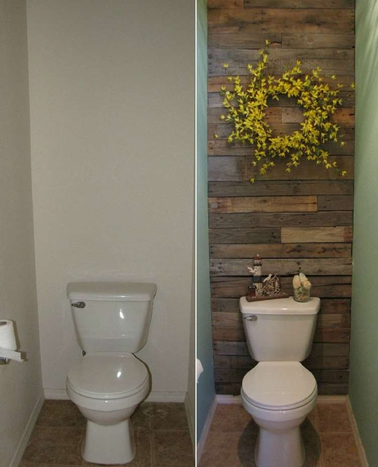 This Small Toilet Room Got An Excellent Makeover With Pallets