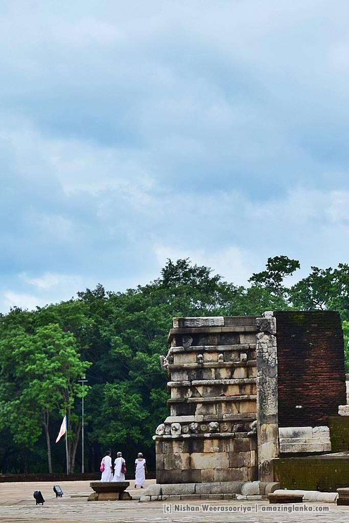 A restored Vahalkada at Abayagiri Stupa