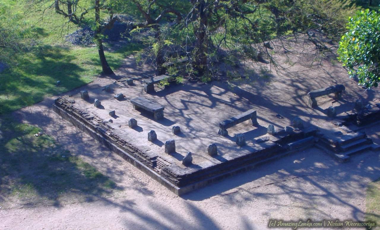 Ancient rock palace of Yapahuwa on a rock