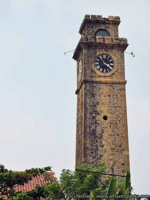 dutch clock tower at Galle Fort