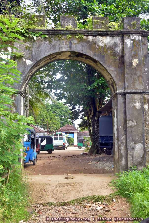 Entrance of the Ruwanwella British Fort conserved by the Department of Archaeology