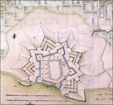 Jaffna Fort - Map of the Jaffna Fort