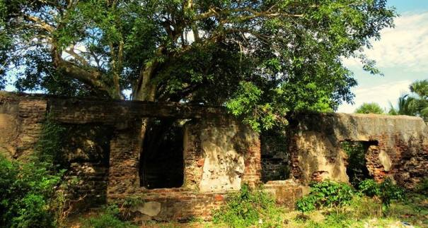 What remains of the Arippu Fort