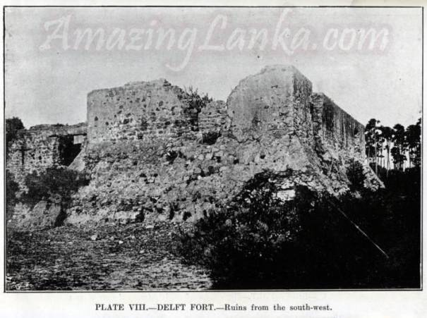 Ruins of the Delft Fort as seen around 1923