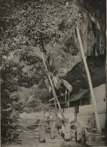 Dambulla Temple as in 1896 from The ruined cities of Ceylon by Henry W. Cave