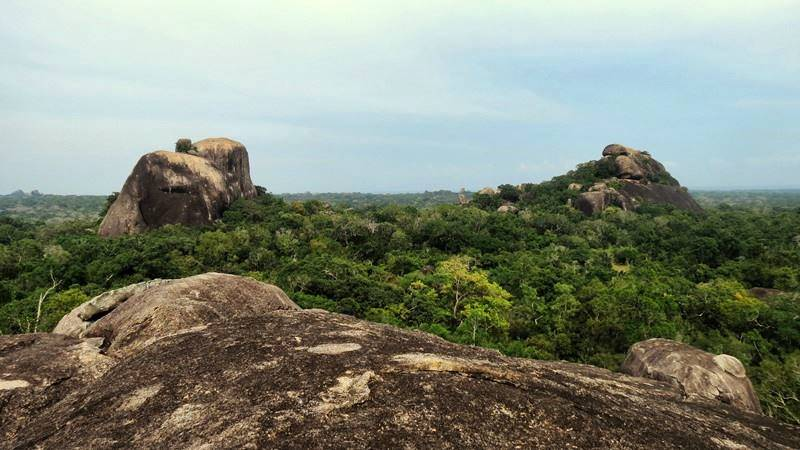 View from the Bambaragasthalawa Rocks inside Kumana