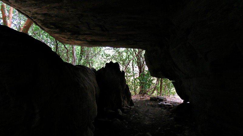 The cave complex Miella (Myella) Kanda Ancient Cave Temple