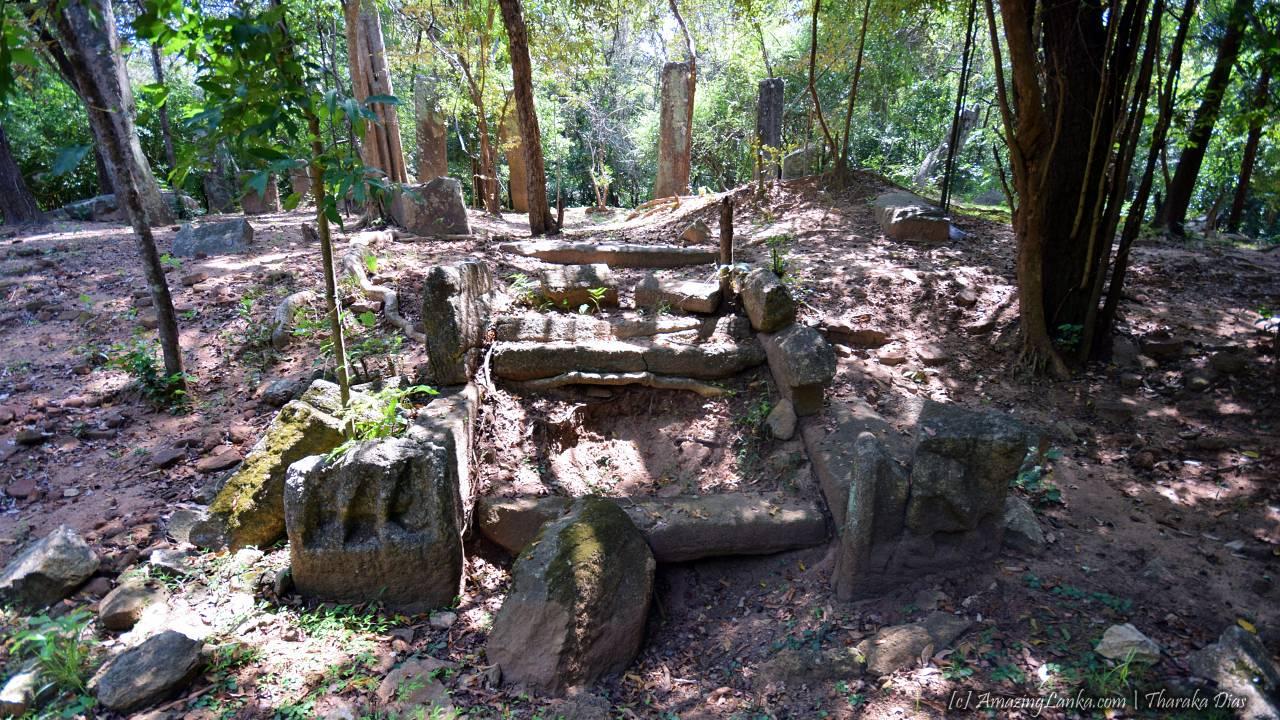 Ramakele Stupa Ruins at Sigiriya - රාමකැලේ ස්තුපය