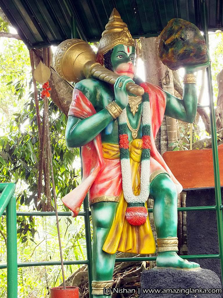 Hanuman Temple at the Rumassala Mountain