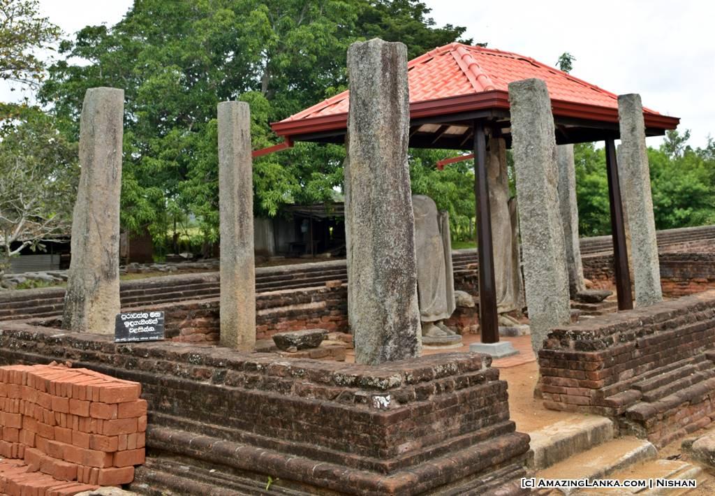 Remains of an ancient image house at Yatala Stupa in Debarawewa