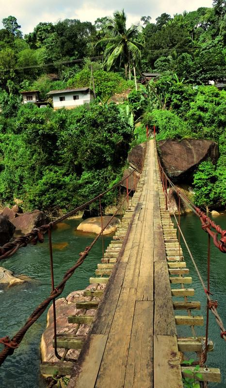 A cable Bridge Over Wee Oya
