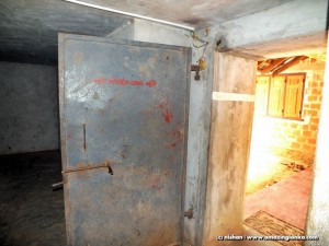 The bullet proof door to the Terrorist Underground Bunker on Kilinochchi - Mulativu Route