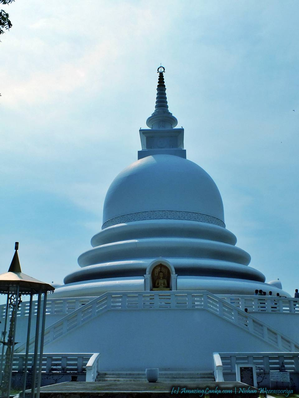 Japanese Peace Pagoda at the Rumassala Hill in Galle