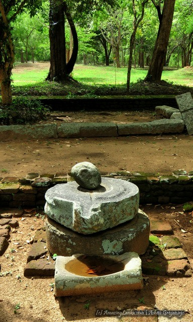A siva lingum from the kovil which has been built at he ancient aramic complex this complex of Padaviya Deiyanne Kanda Archaeological Site