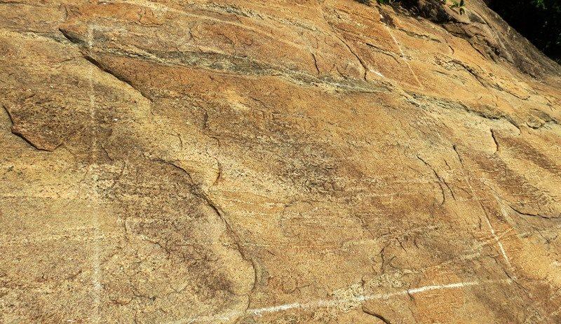 One of the stone inscriptions at Pashana Pabbatha Rajamaha Viharaya