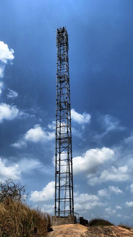Transmission Tower of the LTTE Terrorists at Pashana Pabbatha Rajamaha Viharaya