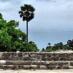 The largest of the ancient pagodas found at Delft Island in Jaffna